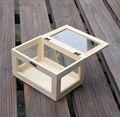 Wood factory handmade FSC unfinished clear wooden box