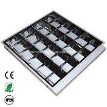 T8 fluorescent office ceiling light fixture, 3x18w 3x36w 4x18w 4x36w V Shape Grille Light manufacturer