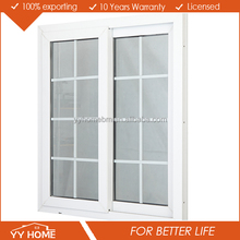 2016 latest design aluminium double glazed sliding window grill design
