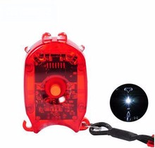 Portable Multi-Functional Bike Lights Tail Lights with a Key Ring Led Light for Bike