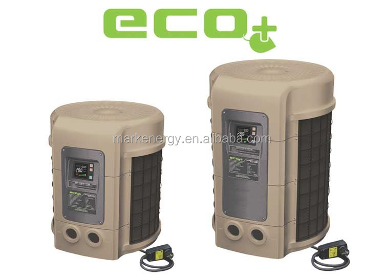 Heat pump for small and medium pools freestanding plastic air to water heat pump China for sale