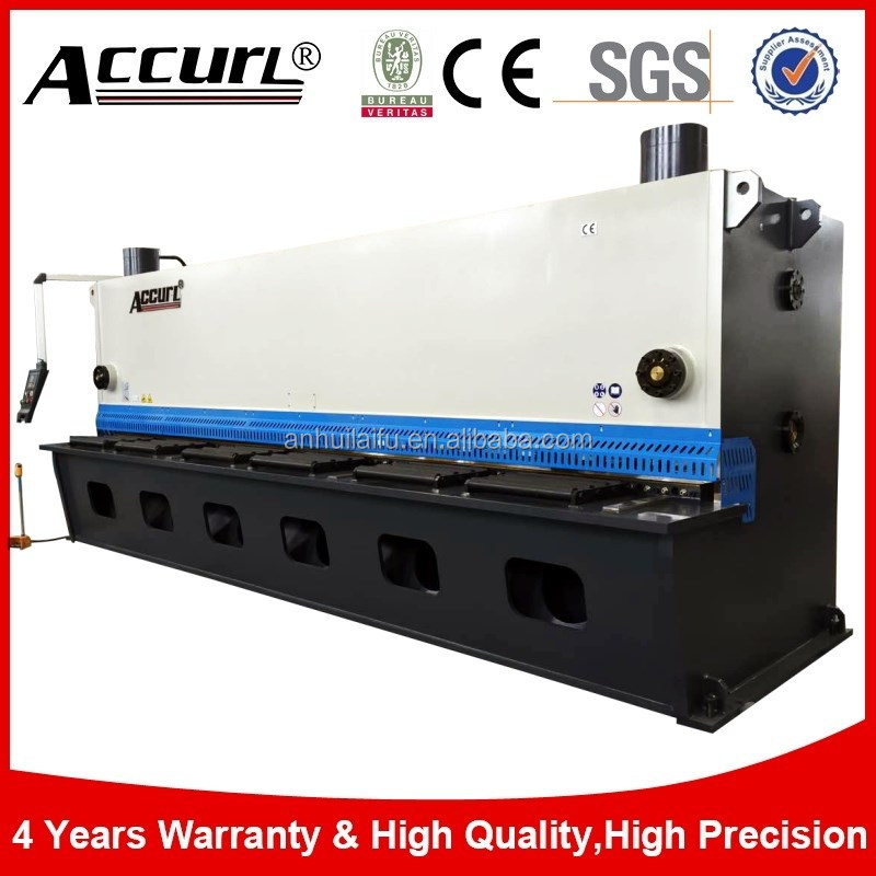 Germany motor drive hydraulic Guillotine <strong>cutting</strong>, hydraulic metal shear to cut iron plate 13mm 6000mm