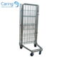 European 4 sides foldable security storage hand trolley/insulated roll container