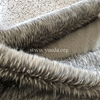 [ Manufacturer ] Grey Colour Imitation Racoon Faux Fake Fur Fabric with tip dyed black