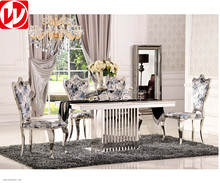 Luxury hotel banquet table simple living room family table and chair combination