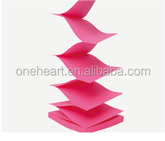 Custom Pop up Z Shaped Sticky Note Pad in Paper Box Dispenser