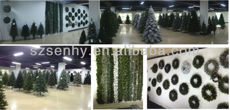 New design promotional PVC artificial christmas wreath/garland