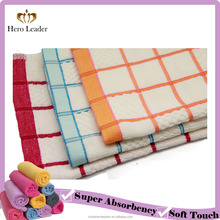 Soft high absorbent multi-color Microfiber towels for kitchen towel