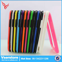 low price china mobile phone for samsung n7100 mobile phone accessories production for two kinds of solid colormetal bumper