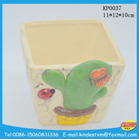 wholesale hand painting ceramic flower planter