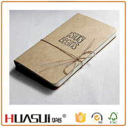 Kraft paper 40 sheets woodfree paper custom hardcover notebook
