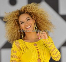 Fashion blonde afro short kinky cruly twist full lace wigs or lace front wigs