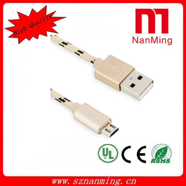 For Andriod Mobile Phone Braided Sync Data Charger Cable Micro USB Cord