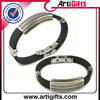 Best quality wholesale silicone bracelet with logo metal clasp