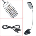 28 led bright Flexible usb desk reading light with Clip for 2015 Christmas gifts