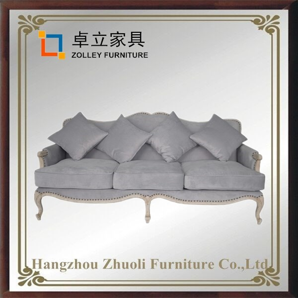 Hot Sale Antique Solid Wood Chinese Restaurant Furniture simple and elegant sofa