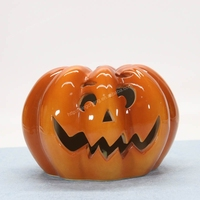 Ceramic Pumpkins Faces Halloween Carved Decoration