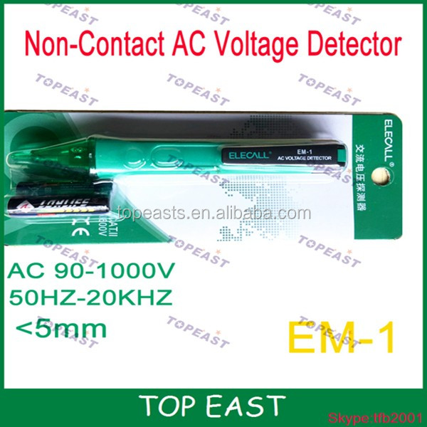 Non-contact infrared AC Alert Voltage Pen Detector <strong>Tester</strong> 90-1000V Detection range <5mm