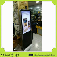 55inch floor standing android digital signage touch screen display stand with Digital marketing company