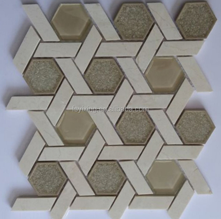 Gorgeous Arabesque Herringbone and hexagon marble mosaic tile for kitchen bathroom backsplash tiles wall tile and flooring