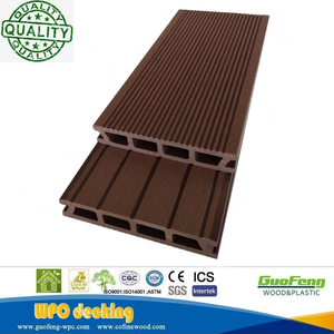 European Welcomed Wood Plastic Composite Materials Outdoor Wpc Hollow Decking