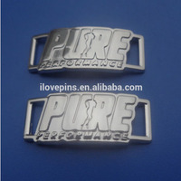 Zinc Alloy Engraved Logo Shoe Charms