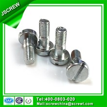 cap head slotted M4 screw standard length full thread screw