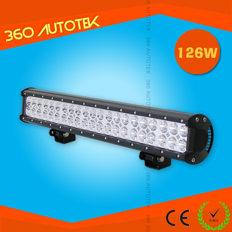 China supplier hot sale 126w led work light bar, waterproof IP67 led ambulance light bar