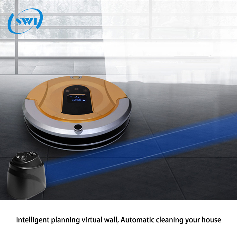 Hot selling self-adjusting cleaning head robot OEM floor auto vacuum cleaner 2017 sweeping machine