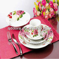 porcelain dinnerware set,shandong 2014 fashion,Plain white porcelain dinnerware