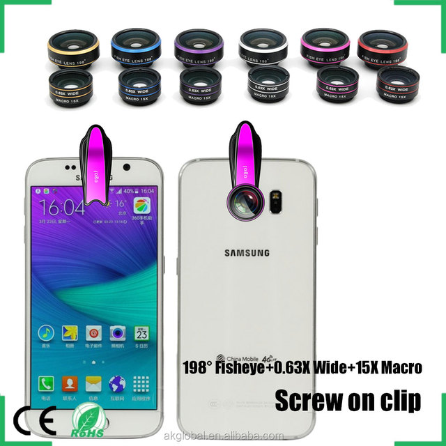 smart phone camera lens set selfie camera accessories photo kit for iPhone 6s Samsung galaxy s6 s5 s4 HTC One M8 M9 Huawei P8
