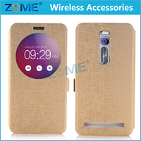 Smart New Arrival Products PU Leather Auto Sleep/wake Cases Flip Cover with Sleep / Wake Feature For ASUS ZenFone 2