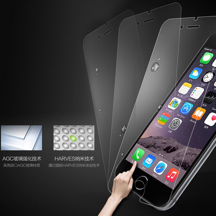 mobile tempered glass screen protector for iPhone 6 plus