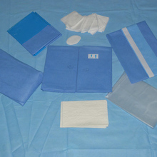 Disposable cheap CE surgical sterile obstetric kit/obstetric set With Adhensive Apeture