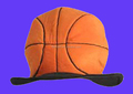 Custom Deluxe Plush Basketball Hat with Random sample