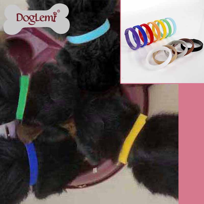 12 Whelping ID Bands, Soft Velcro Pet Dog Cat ID collars bands, Adjustable & Reusable