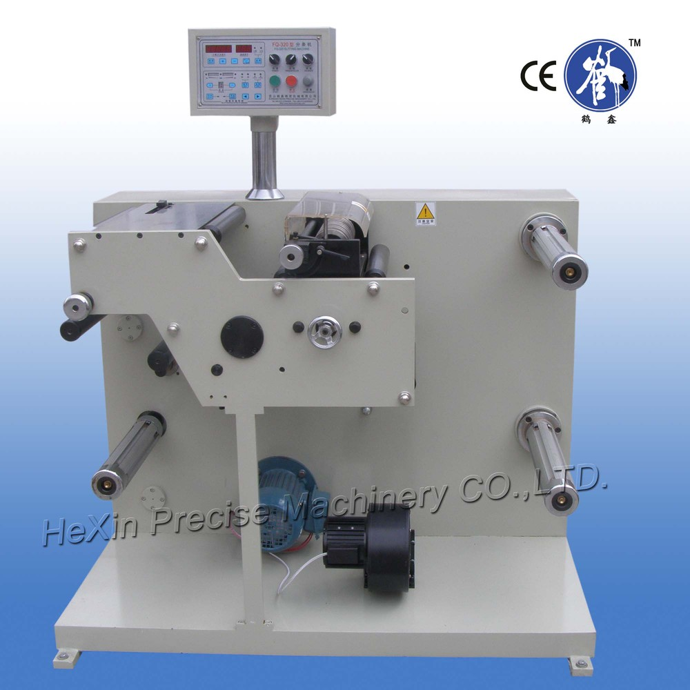 Automatic small roll paper slitter with rewinding