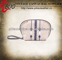 Unique hand-painted canvas and PU hand makeup bag wholesale