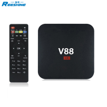 2017 Cheapest Rockchip 3229 V88 4k satellite receiver 60fps Full HD 1080P internet tv set top box
