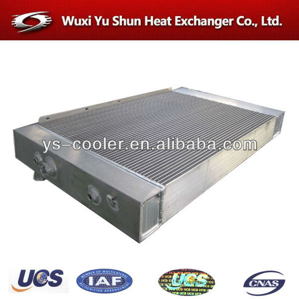 aluminum radiator cores / auto tank radiator for construction machinery / plate fin type water cooling tank manufacturer