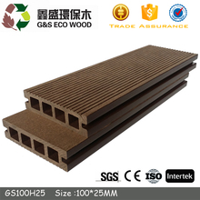 edge garden 2017 new Chinese hollow WPC decking waterproof outside high quality anti-slip wpc composite board