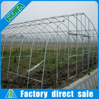 Commecial 10-year warranty hot galvanized steel greenhouse structure