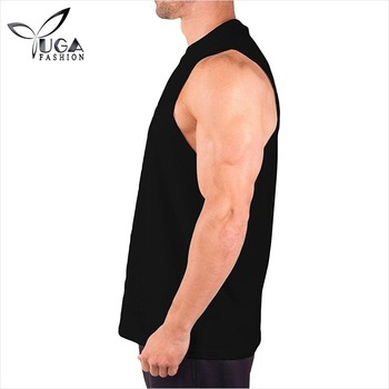 100% Combed Ring Spun Cotton Sleeveless Gym Tank Tops for Men
