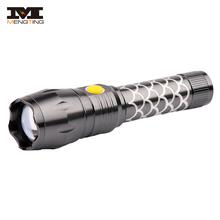 2018 New Fish Pattern 18650 Rechargeable Battery Fast Track Zoomable LED Good Flashlight Torch