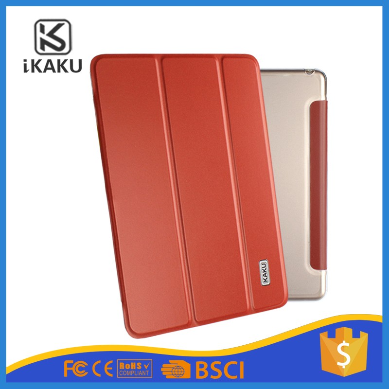 High quality fashion design leather flip tablet cover case for ipad case