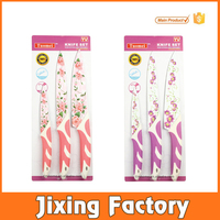 Beautiful Flower Coating Non-stick Knife Stainless Steel Knife Kitchen Knife