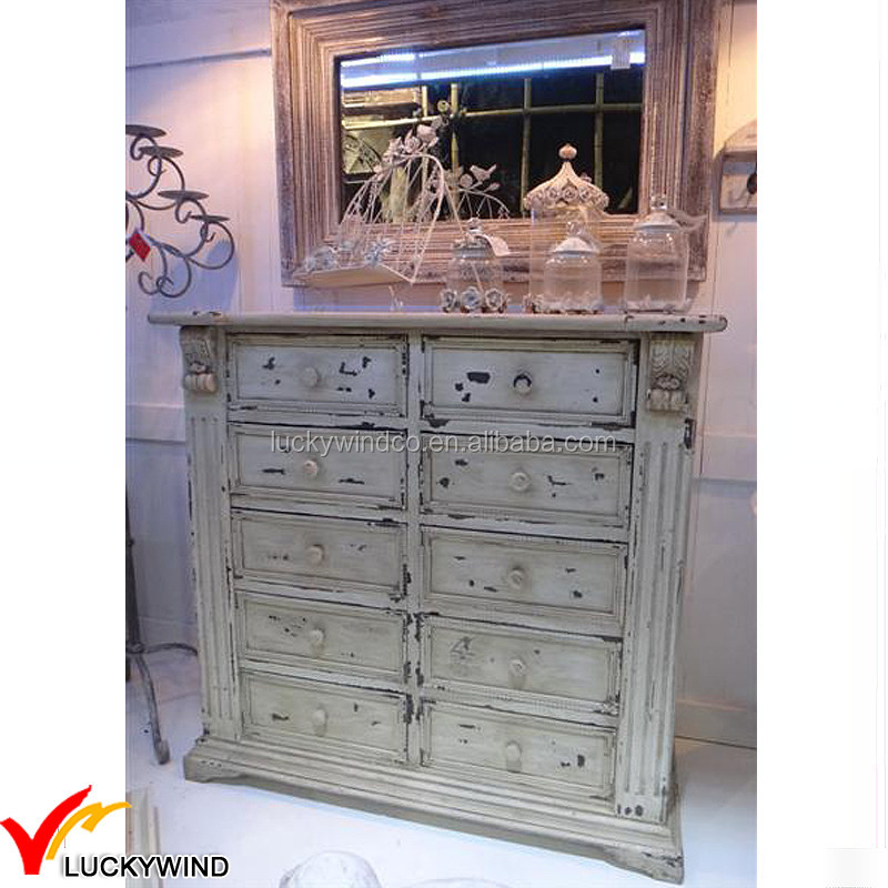 Apenada cajones handmade shabby chic muebles de madera buy product on - Muebles shabby ...