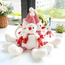 Hot sale Snowman Soft Comfortable Singing Christmas Plush Dog Toy