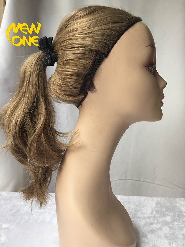 Mongolian hair blonde wigs could take ponytail.jpg