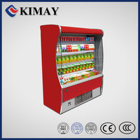 11FD New design red multi-deck open chiller /multi doors display showcase refrigerator/freezer/fridge/low voltage air cooler